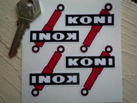 """""""Koni"""" sticker 50x50 mm (4 stuks, Nieuw)"""
