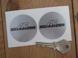 """""""AC Schnitzer"""" sticker d=50 mm (2 stuks, Nieuw)"""