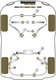 Draagarmrubber D=44 mm Powerflex (Nr.10) (Set van 4, Nieuw)