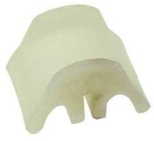 Plastic voor ophangrubber einddemper