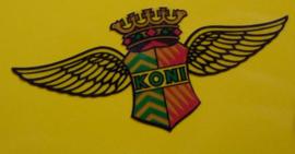 """""""Koni"""" sticker King Wings transparant 40x18 mm (4 stuks, Nieuw)"""