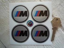 """""""M"""" sticker zilver d=50 mm (4 stuks, Nieuw)"""