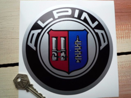"""Alpina"" sticker chrome d=150 mm (Nieuw)"