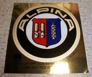 """""""Alpina"""" Sticker wieldop d=51mm (Nieuw)"""