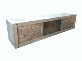 Hangend dressoir steigerhout Renate