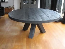 Steigerhouten ronde tafel Claudia