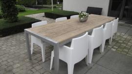 Tafel Stabilo XL, steigerhouten tafels in lengte 260cm, 280cm, 300cm