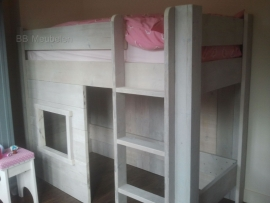 Steigerhouten bed Amy