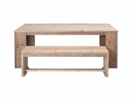 Tafel Bikkel open, steigerhouten tafel met open poten
