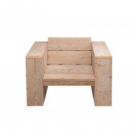 Steigerhouten loungestoel, Ozzy