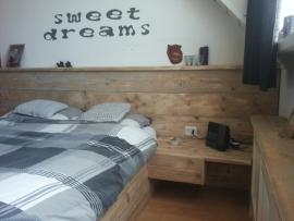 Steigerhouten 2-persoonsbed Sweet Dreams