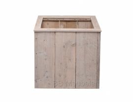 Plantenbak van gebruikt steigerhout; Woody Cube Large
