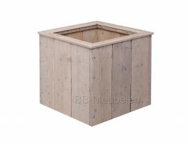 Plantenbak van gebruikt steigerhout; Woody Cube medium