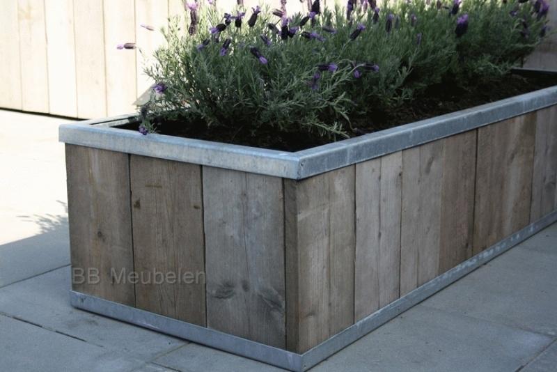 Steigerhouten plantenbak; Stabilo XL