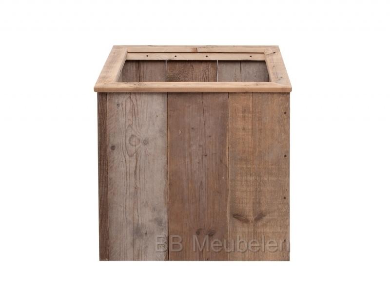 Plantenbak van gebruikt steigerhout; Woody Cube Small