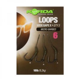 Loop rig wide gape barbless