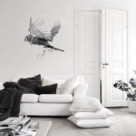 muursticker zwart wit zebravink