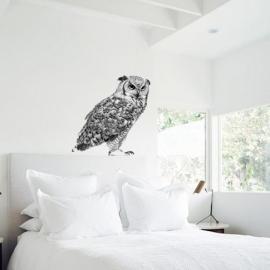 muursticker zwart wit canadese oehoe