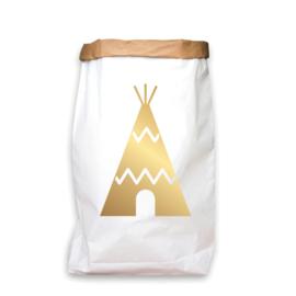 paperbag goud tipi