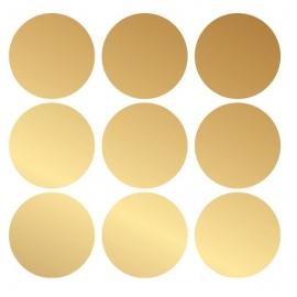 muursticker folie rondjes goud