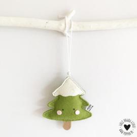 vilt decoratie hanger kerstboompje