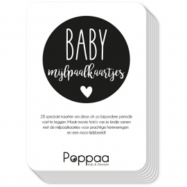 mijlpaalkaartjes zwart wit baby eerste jaar