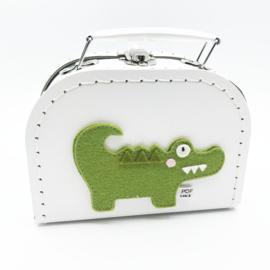 koffertje 16cm krokodil