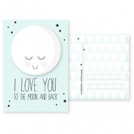 kaart i love you mint