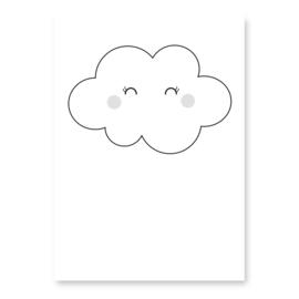 kaart wolkje wit