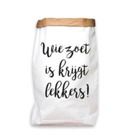 paperbag wie zoet is M / L / XL