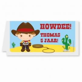 traktatiekaartje cowboy