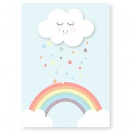 kaart wolkje regenboog