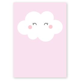 kaart wolkje roze