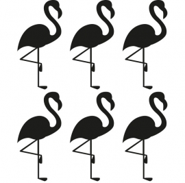 muurstickers folie  flamingo