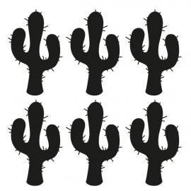 muursticker folie cactus