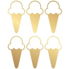 muursticker folie ijsje goud