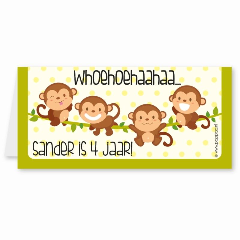 traktatiekaartje aapjes