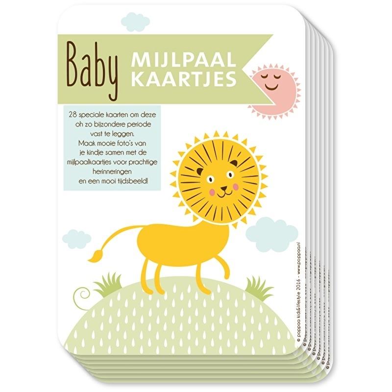mijlpaalkaartjes kleur baby eerste jaar