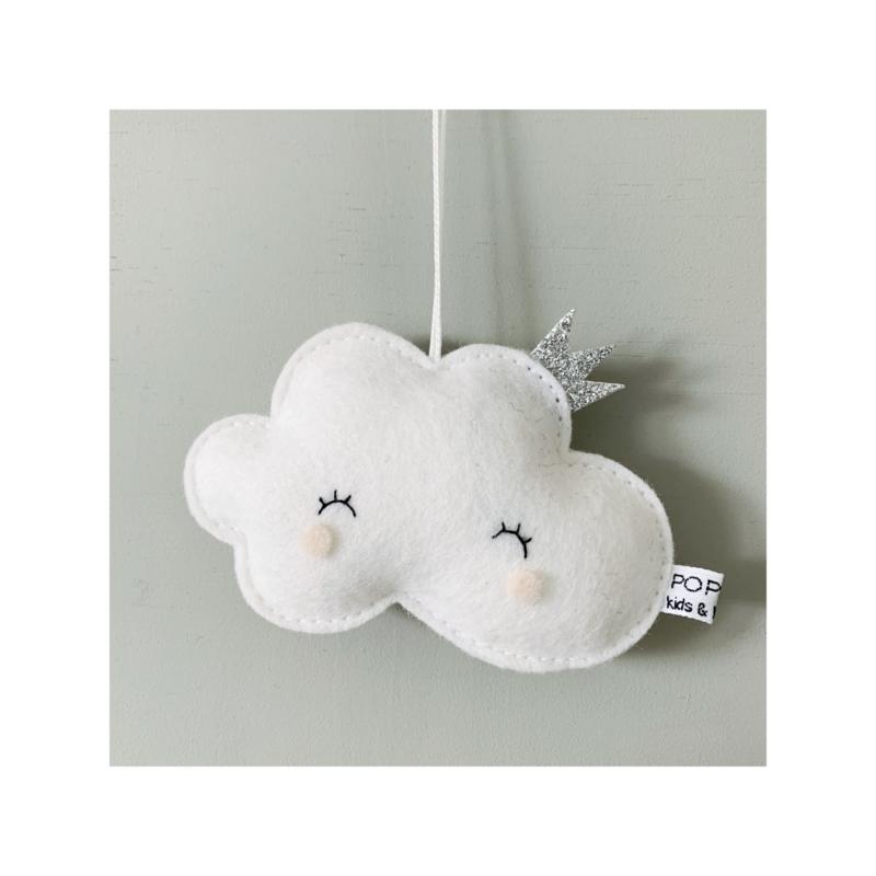 decoratie hanger wolkje