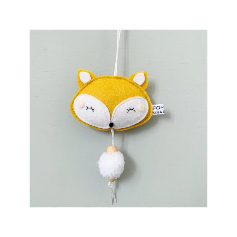decoratie hanger vosje okergeel