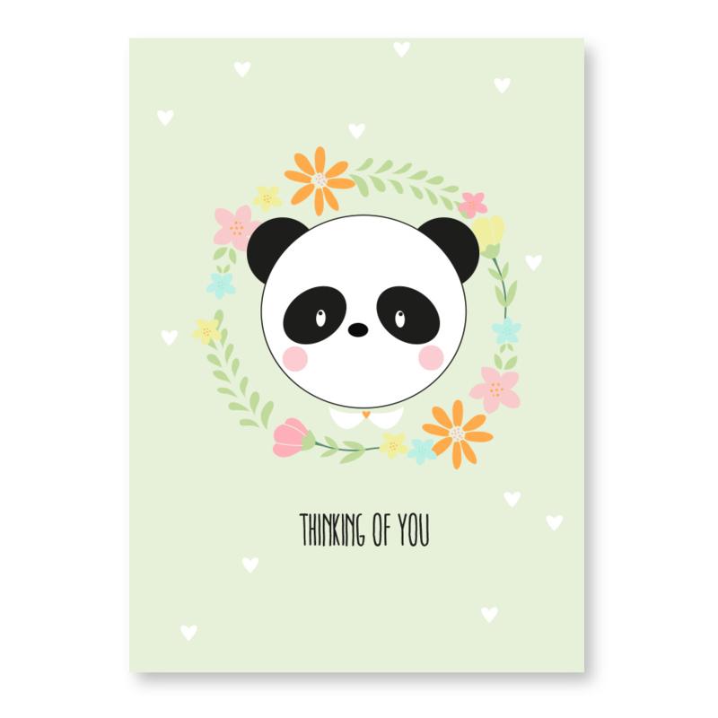 kaart panda thinking of you