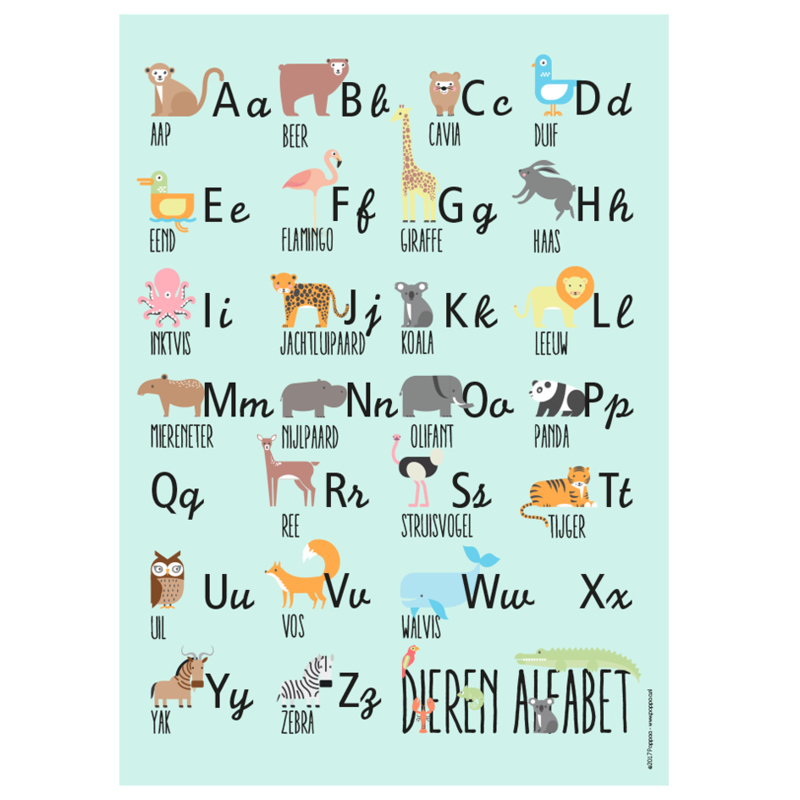 poster dieren alfabet