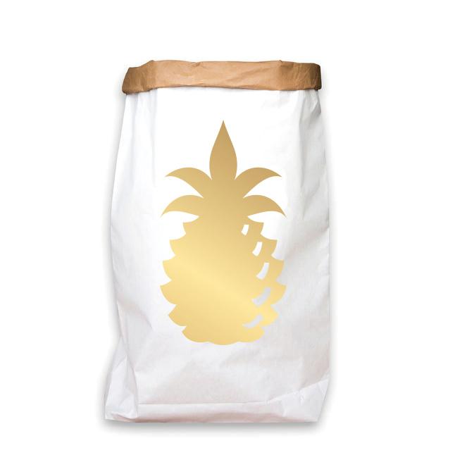 paperbag goud ananas