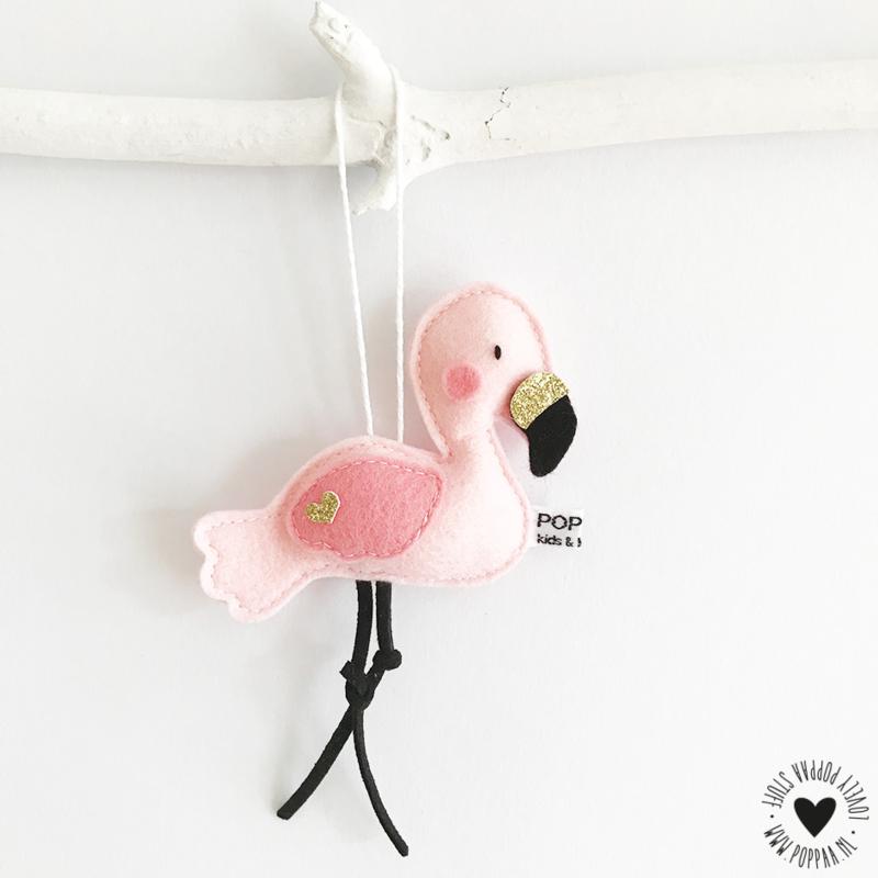decoratie hanger flamingo