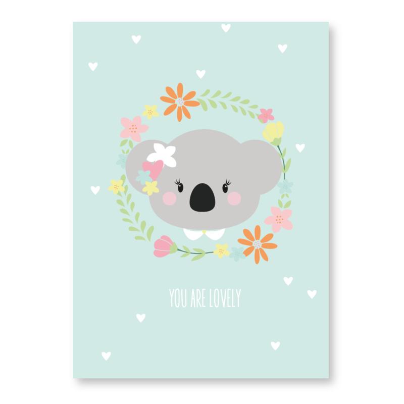 kaart koala you are lovely