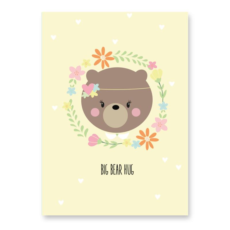 kaart beer big bear hug