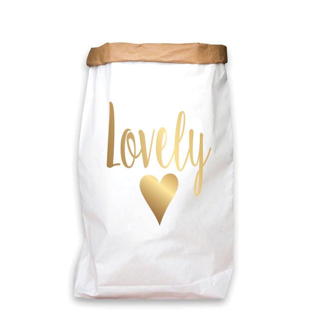paperbag goud lovely