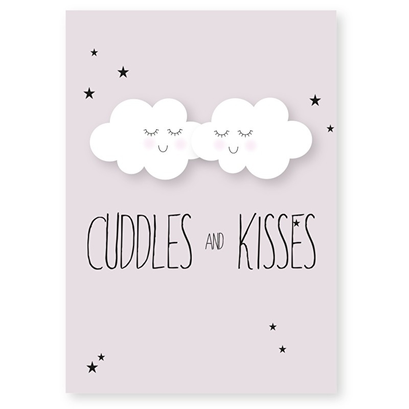 kaart cuddles and kisses