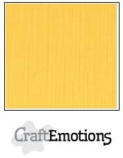 CraftEmotions linnenkarton - goudgeel LHC-22 A4 250gr