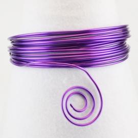 Aluminium wire 0,8mm 15m lilac